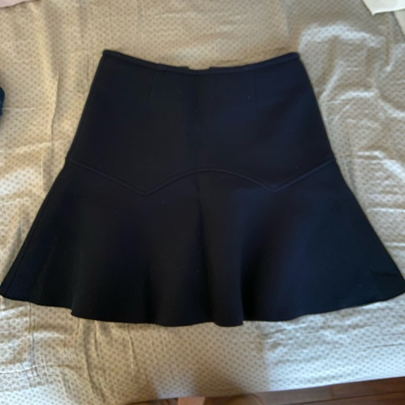 Warm, thick, flared navy skirt